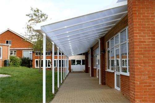 Polycarbonate Carport Designs : The simplicity walkway canopy carport veranda
