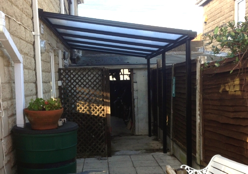 Case study domestic garden canopy installation