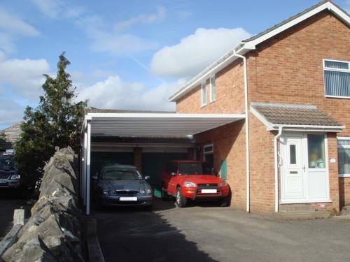 Simplicity 35 Aluminium Carport installed in Somerset.