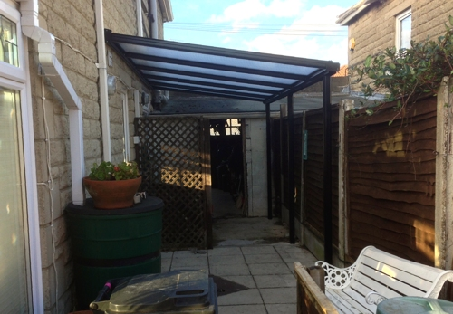 Simplicity 16 Aluminium Carport Installed at a Domestic Property in Swindon, Wiltshire