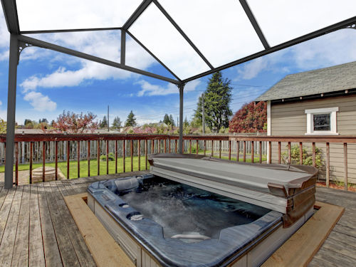 Hot tub canopies milwood group for Hot tub shelter