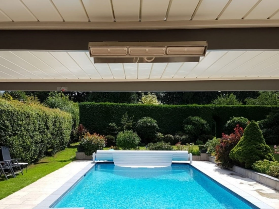 Bioclimatic Pergola Swimming Pool Little Chalfont Hertfordshire Alfresco Living