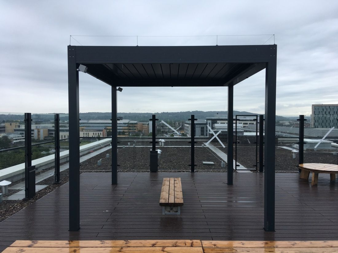 Bioclimatic Pergola Rooftop Cambridgestyle Cardiff Wales