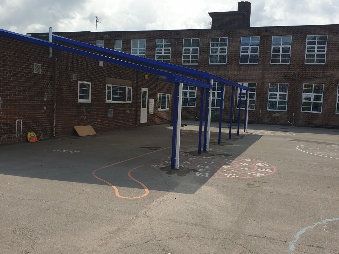 School Canopy Burton on Trent Stafforshire-Cambrudge-Style-Canopies