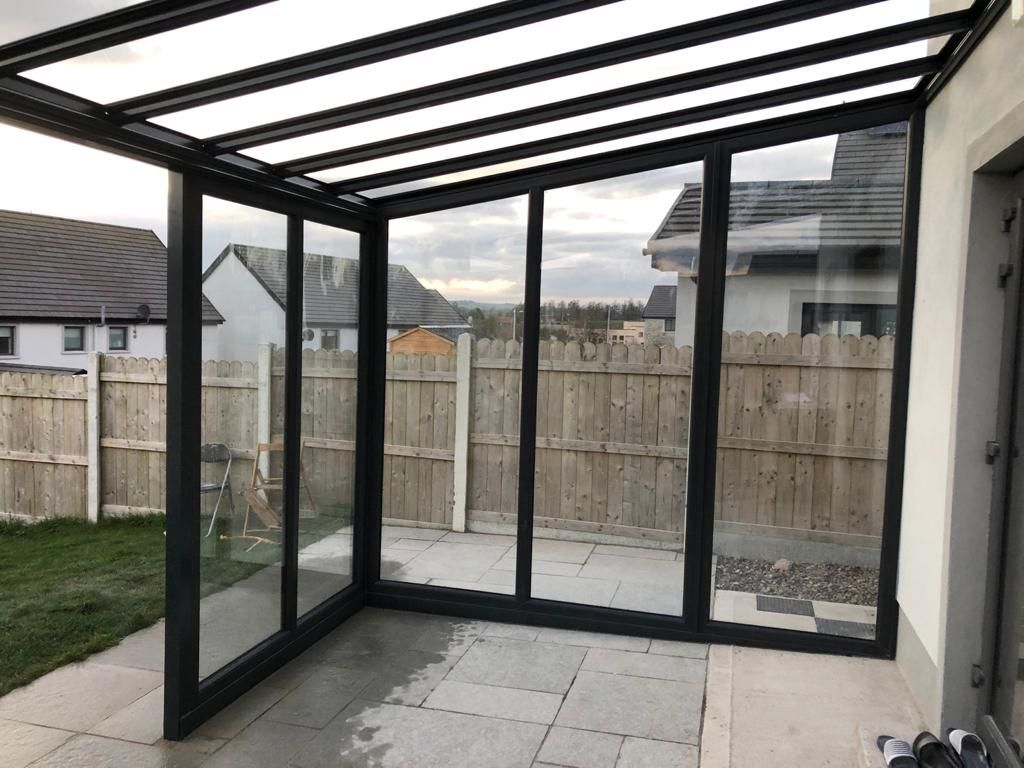 Anthracite Grey Canopy Glass Side Ireland Roofit